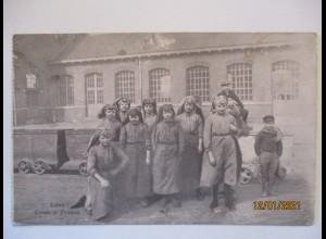 Bergbau Frankreich Lens Groupe de Trieuses Feldpost 1917 (9620)