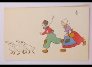 Kinde, Mode, Trachten,Gänse, 1900, NP ♥ (49122)