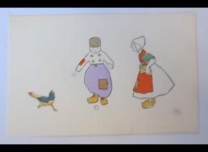 Kinde, Mode, Trachten, Huhn, Ei, 1900, NP ♥ (24775)