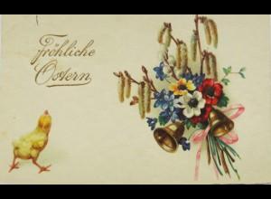 Ostern, Blumen, Glocke, Küken, 1932 ♥ (12029)