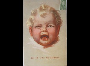 Kinder, Baby, Weinen, 1915, Wally Fialkowska ♥ (4393)