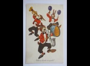 Ostern, Personifiziert, Osterhase, Musizieren, 1964 ♥ (65741)