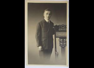 Junger Mann, Fotokarte, Photo Kasig, Wernigerode