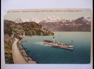 Schweiz Thunersee Beatenbucht Dampfer ca. 1910 (21296)