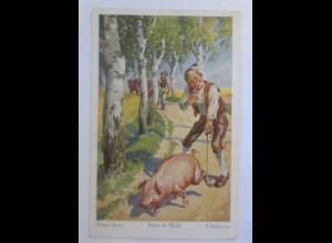 Märchen, Haus im Glück, 1910, G. Hinke Serie 298, Nr.4776 ♥ (17528)