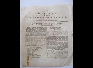 Hannover Steckbrief 1831 betr. Pferde-Diebstahl in Sorsum (A1)