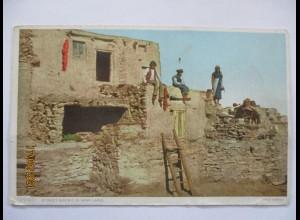 Indianer Hopi Pueblo, Phostint Card ca. 1910 (63859)