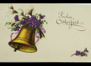 Ostern, Glocke, Weidenkätzchen, 1939 ♥ (12065)
