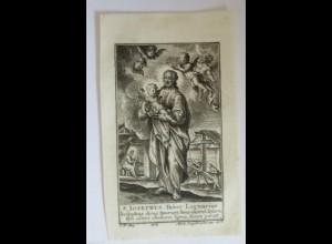 Weihnachten, Heilige, St.Josephus, Faber Lignarius, 1900, Druck ♥ (34415)