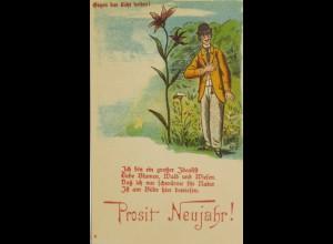 """""""Neujahr, Männer, Scherzkarte"""" 1900 ♥ (8177)"""