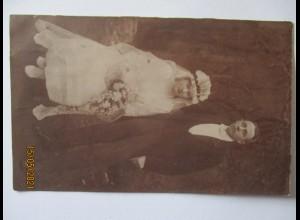 Hochzeit Braut Bräutigam, Fotokarte Hamburg 1922 (5055)