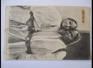 Afrika Marokko, Frauen, Types du Maroc ca. 1910 (32025)