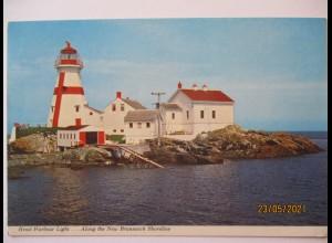 Kanada New Brunswick, Leuchtturm ca. 1970er Jahre (59788)