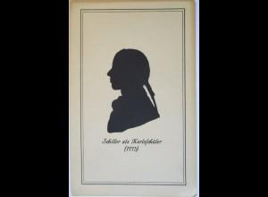 Scherenschnitt, Friedrich Schiller, 1920 ♥ (21157)