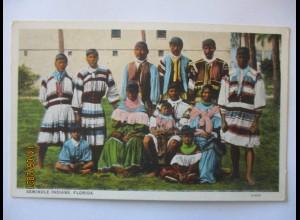 Indianer USA Seminole Indians in Florida (7310)