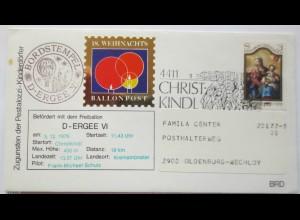 Österreich, Weihnachten, Christkindl, 18. Ballonpost 1978