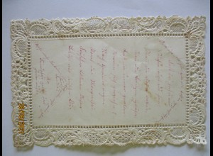 Papier Papierarbeit Spitzentechnik, Brief ca. 1860 (57464)