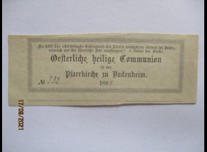Budenheim 1888, Andenken an die Österliche heilige Kommunion (40897)
