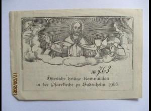 Budenheim 1905, Andenken an die Österliche heilige Kommunion (47701)