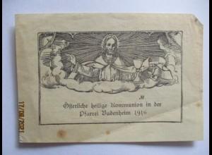 Budenheim 1916, Andenken an die Österliche heilige Kommunion (27680)