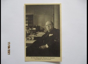 Großbritannien Winston Churchill Tucks Postkarte ca. 1940 (27556)