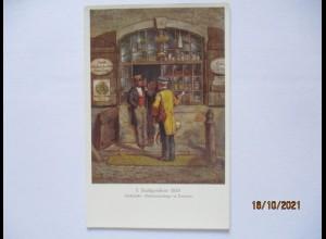 Sachsen Stadtpost Briefträger 1830 vor Tabak Handlung in Dresden (65823)