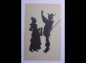 Schattenriss-Karten, Aus Falstaff und seinen Gesellen, 1910 ♥ (56831)