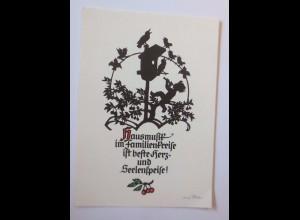 Engel, Vogel, Vogelhaus, 1945, Georg Pflischke ♥ (52140)
