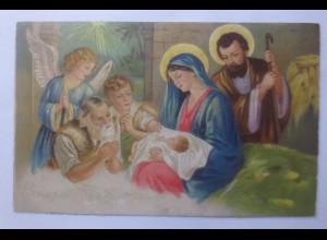 Weihnachten, Engel, Heilige, Maria. Jesus, 1930 ♥ (62322)