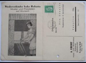 Werbung Fenster Rollos, Weber in Leipzig 1929 (37075)