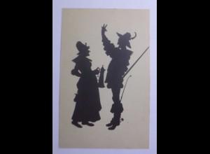 Schattenriss-Karten, Aus Falstaff und seinen Gesellen, 1910 ♥ (56838)