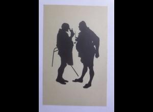 Schattenriss-Karten, Aus Falstaff und seinen Gesellen, 1910 ♥ (56839)