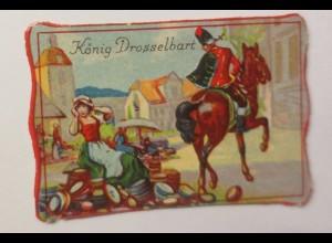 Oblaten, Märchen, König Drosselbart, 6 cm x 4 cm ♥ (6059)