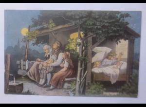 Schutzengel, Engel, Unser Vater in dem Himmel 1908,L. Richter ♥ (62325)