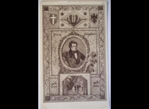 Musik Österreich Franz Schubert, Künstlerkarte sign. Schüle