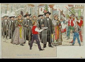 """""""La chained d´arret des maries"""" 1900, sig. P.Kaufmann ♥"""