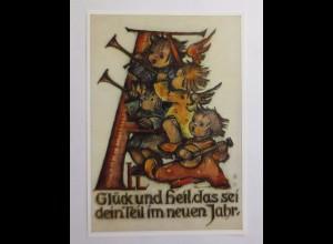 Kinder, Engel, Musizieren, 1950, B. Hummel ♥ (45504)