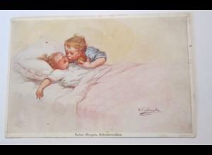 """""""Kinder, Guten Morgen, Schwesterchen"""" 1916, Wally Fialkowska ♥ (25257)"""