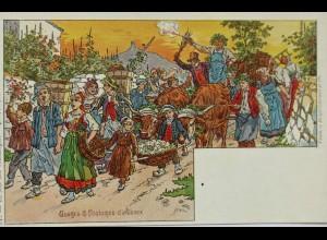"""""""Le soir des vendanges"""" 1900, sig. P.Kaufmann ♥"""