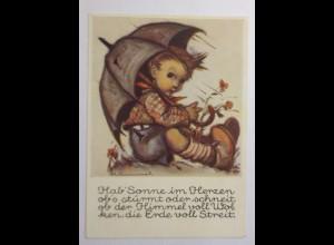"""Kinder, Kinder, Schirm, Blumen"" 1950, B. Hummel ♥"