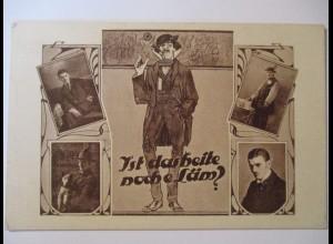 Cirkus, Variete, Clown, Ist das heite noch e Läm, 1910 ♥ (21525)