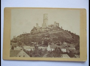 Burg, Dorf, Foto ca. 1890