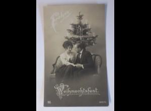 Weihnachten, Männer, Frauen, Weihnachtsbaum, 1910 ♥