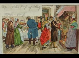 """""""Weihnachten""""1900, sig. P. Kaufmann ♥ (4923)"""