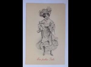 """""""Neujahr, Frauen, Mode, Schwein, Sekt"""" 1900 ♥ (54310)"""