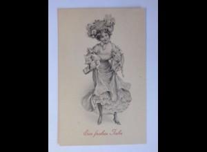 """""""Neujahr, Frauen, Mode, Schwein, Sekt"""" 1909 ♥ (54327)"""