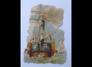 Oblaten , Schiff, 9,5 cm x 6,5 cm, 1900 ♥ (65967)