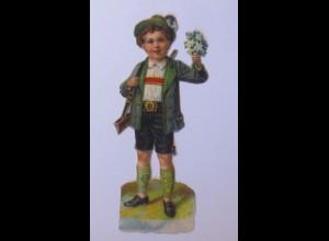 Oblaten, Kinder, Mode, Blumen, 9,5 cm x 4 cm, Jahr 1900 ♥ (65972)
