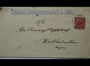 D.Reich, Metzger, Fleischerei-Berufsgenossenschaft Lübeck 1897