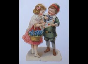 Oblaten , Kinder, Mode, Blumen, 8 cm x 5 cm, 1900 ♥ (65975)